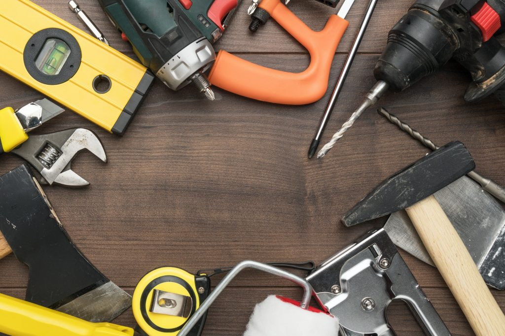 construction tools background